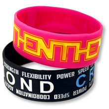 "1"" Debossed w/ Color Fill-In Silicone Wristband"