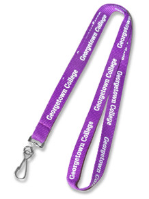 "1/2"" Wide - Economy Flat Polyester Screen-Printed Lanyard"
