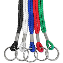 "1/4"" Round Lanyard with Split Ring"