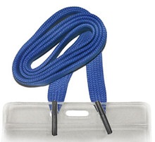 "1/2"" Flat Lanyard with 2 Metal Tips"