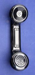 Refurbished modular push-to-talk handset showing push-to-talk button