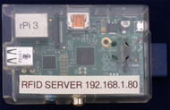 RFID Server on Raspberry Pi including case, SD Card with Linux and Application Software