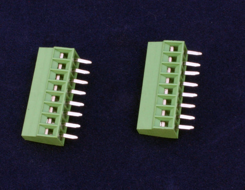 8 Position 0.100 screw terminal.  Sold in packages of two.