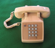 """2514 AT&T """"Touch-Tone"""" desk set with headset adapter - beige shown (used)"""