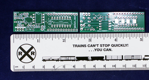 Geoff Bunza's powerful and inexpensive 17 function DCC decoder.  Bare Board
