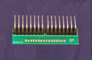 0.156 Molex adapter.  Molex adapter plugs into 16 i/o positions on an IOX16 and adapts to the classic CMRI connector