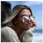Quay Australia, the auhority in Hollywood trending glasses! These glam oversized aviators feature a metal frame, double bridge and adjustable nose pads for no-slip wear. The gold frames feature mirrored lenses.Also come in Black.