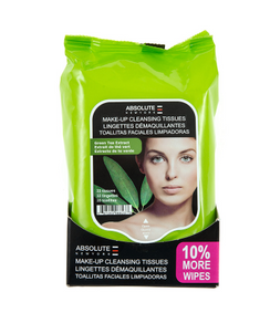 MINI GREEN TEA EXTRACT MAKE UP CLEANSING TISSUES 33 TISSUES 10% MORE WIPES  ADULT ONLY