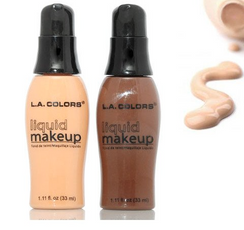 L.A. Colors  SILKY, LIGHTWEIGHT FORMULA LEAVES SKIN WITH A HEALTHY, NATURAL FINISH.  HELPS TO COVER & EVEN OUT SKIN TONE FOR A FLAWLESS LOOKING COMPLEXION. ENJOY A MESS FREE APPLICATION EVERY TIME WITH OUR CONVENIENT FOUNDATION PUMP.
