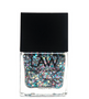 LAW All vegan toxin free nail polish as seen in IPSY's glam bags and celebrity glam bags! Color shown is MIXED WITH MERMAID This metallic sparkle color has high transparency yet filled with glitter, luster and a multi colored gleam effect. With a scale like finish two coats and a gloss finish this chip resistant color is as luminating as a mermaids tail.