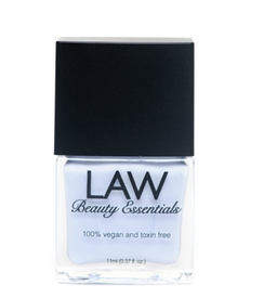 LAW all vegan toxin free nail polish as seen in IPSY's glam bags and celebrity glam bags! Color shown is PERI OR WHATEVER! This periwinkle is nothing shy of chic! Vivid, bright and stunning!