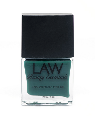 LAW all vegan toxin free nail polish as seen in IPSY's glam bags and celebrity glam bags! Color shown is NETWORTH HOW MUCH? Who loves youth, growth, wellness, wealth? This color exemplifies all this and more. This creamy green color is a eye catcher and a must have in your nail polish collection.
