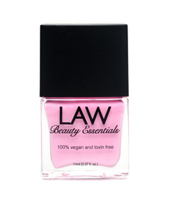 LAW all vegan toxin free nail polish as seen in IPSY's glam bags and celebrity glam bags! Color shown is PINK POUTY POUT! Barbie Pink! Enough said.