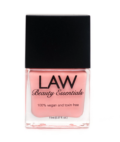 LAW all vegan toxin free nail polish as seen in IPSY's glam bags and celebrity glam bags! Color shown is ALOT OF SPICE! This coral color leaves you with all the spice and everything nice. With just two coats and a gloss finish  this chip resistant color will leave you with a milky creamy finish.This coral color leaves you with all the spice and everything nice. With just two coats and a gloss finish  this chip resistant color will leave you with a milky creamy finish.