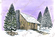 A Winter Cabin in the Woods