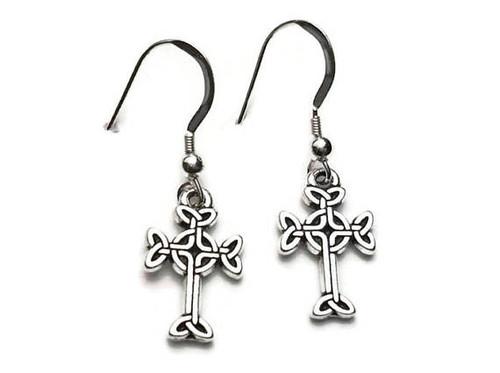 Celtic Cross Dangle Earrings