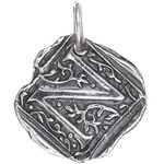 Waxing Poetic Sterling Silver Square Insignia Charm 'N'