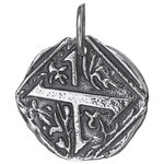Waxing Poetic Sterling Silver Square Insignia Charm 'X'
