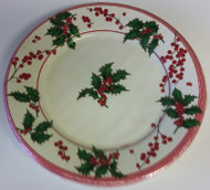 Caspari 'Holly and Berries' Ivory Salad/Dessert Plates