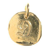 Waxing Poetic Gold Charm 'L' Baby Insignia