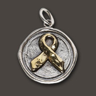 Waxing Poetic 'Awareness' Ribbon Charm