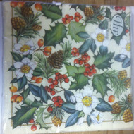 Ideal Home Range Cream Winter Flora Dinner Napkins