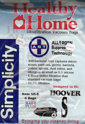 Healthy Home Hoover Type S Ultrafiltration Vacuum Bags