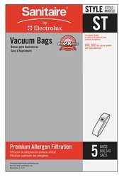 Sanitaire Vacuum Bags Type ST by Electrolux