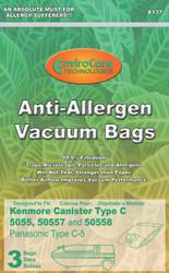 EnviroCare Technologies Anti-Allergen Kenmore Type C Vacuum Bags