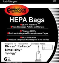 Envirocare Riccar Radiance/Simplicity Synergy HEPA Vacuum Bags (853)