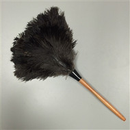 Premium Ultra Floss Lacquered Handle Black Feather Duster 20""