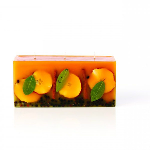 Spicy Apple 3 Wick Brick Botanical Candle