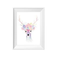 Water colour deer