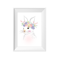 Bunny flower crown