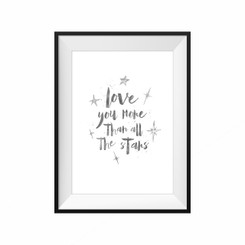 Love you more than all the stars watercolour