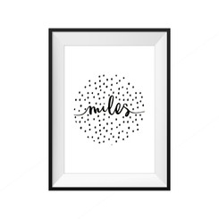 Speckled Circle Personalised