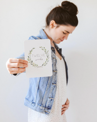 Wreath Pregnancy milestone cards