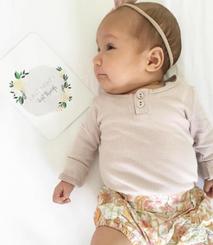 Antique Bloom Baby Milestone Cards