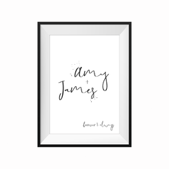 Forever and always Personalised print