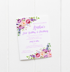 Purple Floral Invitation