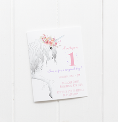Unicorn Magic Invitation