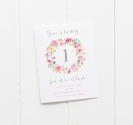 Bright Blooms Invitation