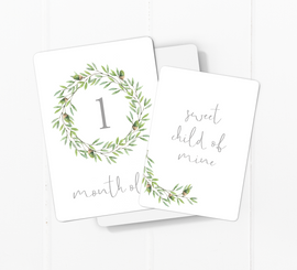 Acorn Wreath Baby Milestone Cards