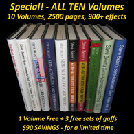 SPECIAL - Volumes 1-10 Semi-Automatic Card Tricks (1 vol. free + gaffs)