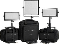 LED Video Lighting Kit : 1 MB 1024 Daylight, 2 MB 512 Daylight , 3 8' Stands Padded Bags