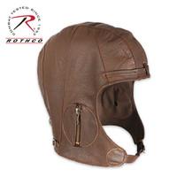 WWII Style Leather Pilot Helmet