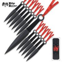 Ridge Runner 12 Piece Throwing Knife Set