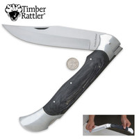 Timber Rattler Scarab Back Giant Pocket Knife