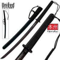 United Cutlery Honshu Black Damascus Wakizashi Sword