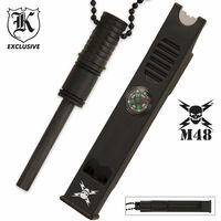 M48 Fire Striker/Whistle/Compass Necklace